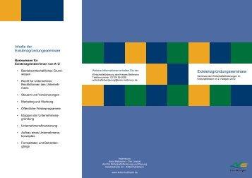 Existenzgründungsseminare - Competentia NRW