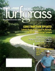 Turfgrass Council of North Carolina / PO Box 2163 / Cary, NC 27512 ...