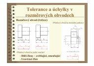 Tolerance a úchylky v rozměrových obvodech