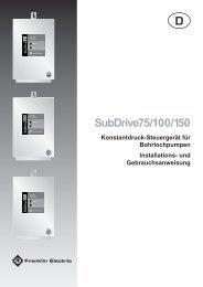 SubDrive BA Deutsch.pdf - Franklin Electric Europa