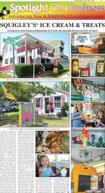 SQUIGLEY'S® ICE CREAM & TREATS - The Island Gazette