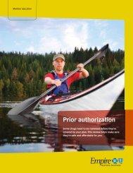 Prior authorization - Empire Blue Cross Blue Shield