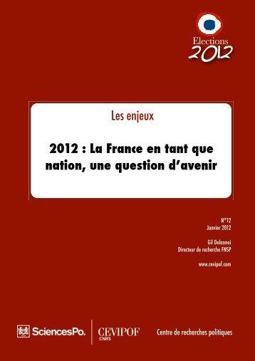 la France en tant que nation - cevipof
