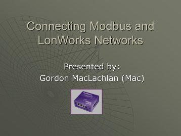 Connecting Modbus and LonWorks Networks - FieldServer ...