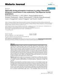Optimally timing primaquine treatment to reduce Plasmodium ...