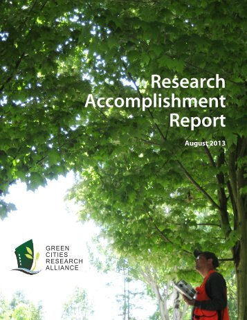 Download the new Green Cities Research Alliance Accomplishment ...