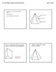 10-4 10-5 Space Figures and Surface Area