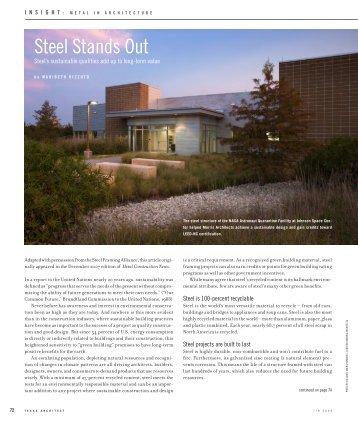Steel Stands Out - Create online portfolio!