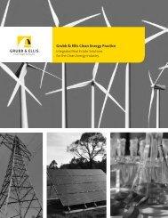 Grubb & Ellis Clean Energy Practice