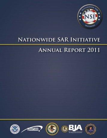 Nationwide SAR Initiative Annual Report 2011 - The Nationwide ...