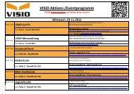 VISIO Aktions-/Eventprogramm - VISIO-Tirol