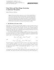 Time Delay and Short-Range Scattering in Quantum ... - Springer