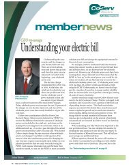 Understanding your electric bill - CoServ.com