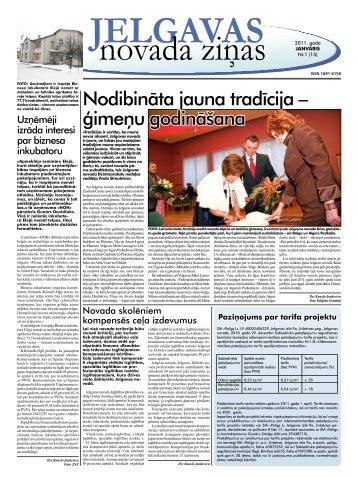 2011. gada janvāris Nr.1 - Jelgavas rajona padome