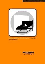 Studio Tables Brochure - Vistek