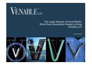 The Legal Aspects of Social Media: What Every ... - Venable LLP