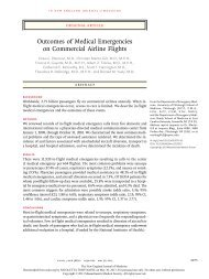 Outcomes of Medical Emergencies on Commercial Airline Flights