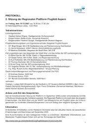 PROTOKOLL 2. Sitzung der Regionalen Plattform Flugfeld Aspern