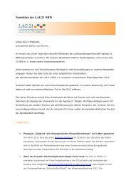 LAG 21 NRW_Newsletter_August 2012