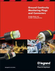 Ground Continuity Monitoring Plugs and Connectors - by Legrand