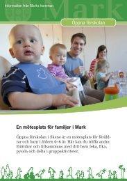 Broschyr Öppna förskolan - Marks kommun