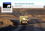 Second Quarter 2013 Results - gowebcasting