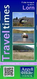 Area Transport Guide for Lorn Issue 9 (21 October 2012)