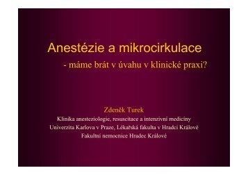 Anestézie a mikrocirkulace - Česká společnost anesteziologie ...