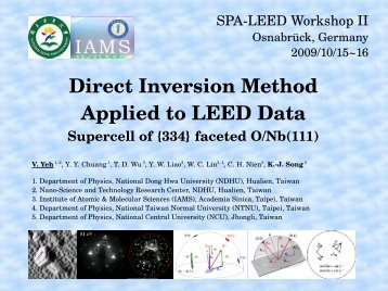 Direct Inversion Method Applied to LEED Data
