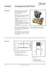 Datenblatt Strangregulierventil LENO™ MSV-B - Danfoss