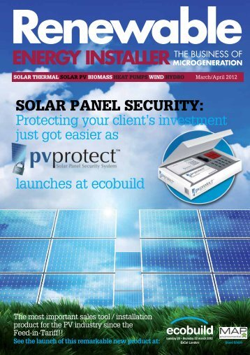 REI Mar-Apr 2012 - Renewable Energy Installer