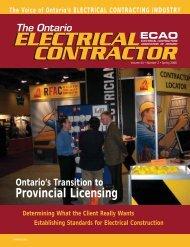 Provincial Licensing - Electrical Contractors Association of Ontario