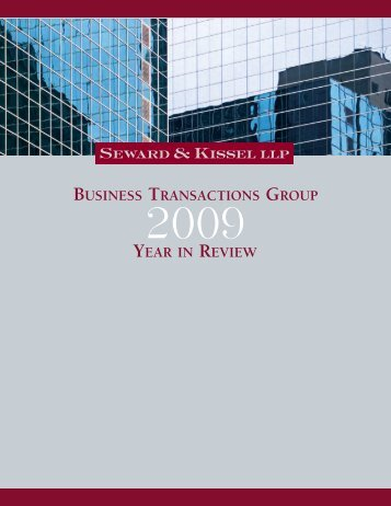 2009 Year in Review - Seward and Kissel