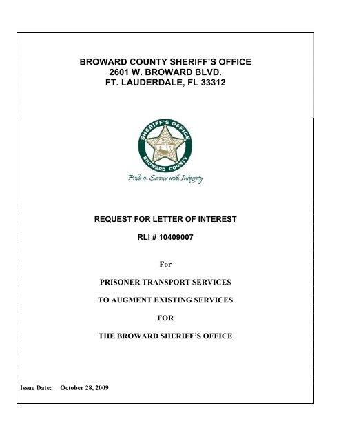 broward county sheriff's office 2601 w  broward blvd  ft