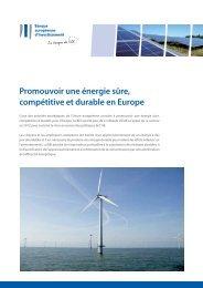 Promouvoir une énergie sûre, compétitive et durable en Europe