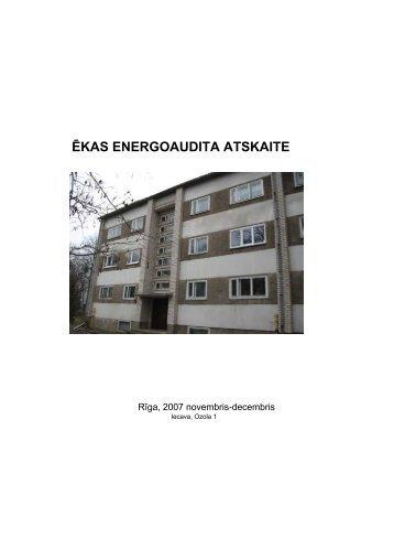 ĒKAS ENERGOAUDITA ATSKAITE