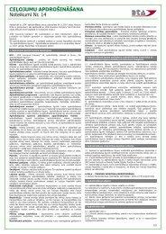 CEĻOJUMU APDROŠINĀŠANA Noteikumi Nr. 14 - BTA