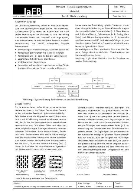 Textile Flächenbildung - Institut für angewandte Forschung im ...