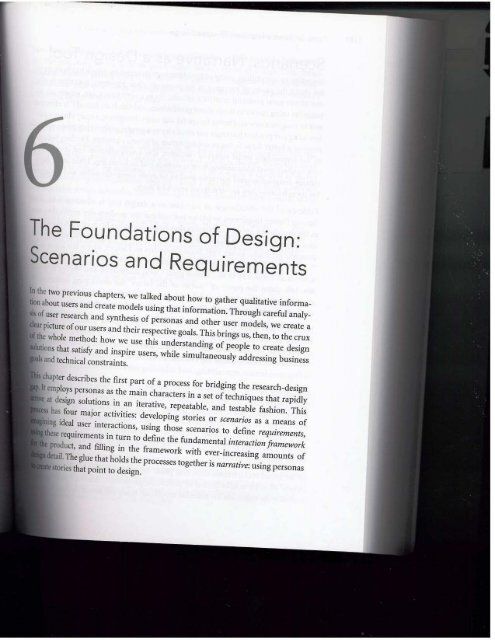 The Foundations of Design: Scenarios and Requirements