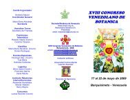triptico congreso botanica - Universidad Centroccidental Lisandro ...