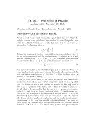 PY 251 - Principles of Physics - Boston University Physics Department.