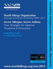 welcome to wisc 2012 - World Allergy Organization