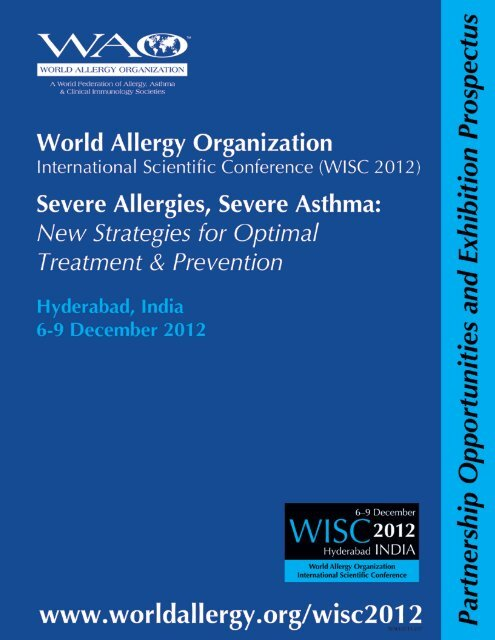 welcome to wisc 2012 - World Allergy Organization