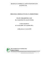 prognoza oddziaływania na środowisko planu urządzenia lasu
