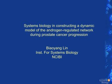 Systems biology in constructing a dynamic model of the androgen ...