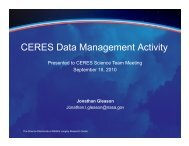 CERES Data Management Overview and Status - NASA