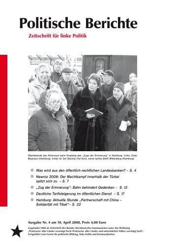 Politische Berichte - Verein für politische Bildung, linke Kritik und ...