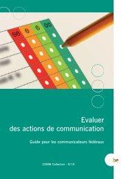 Evaluer des actions de communication - Fedweb