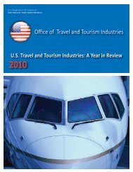 US Travel and Tourism Industries: A Year in Review (2010)