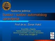 Sustavi i sustavi automatskog upravljanja - FER